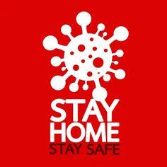 Stay home save lives quote vector illustration Coronavirus awareness Free Vector Illustration, Free Illustrations, Bacteria Cartoon, Free Vector Images, Vector Free, Stoner Art, Batik Art, Save Life, Stay Safe