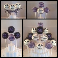 I made these for my cousin who loves Jack Skellington #cake pops