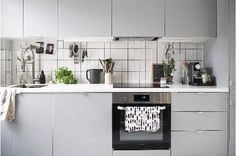 Scandi inspired white kitchen in London