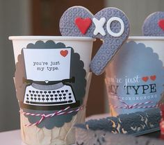 You're Just My Type via @lynleespetitecakes