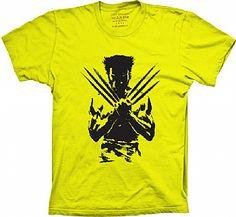 Camiseta Wolverine - Cobaia de uma experiência governamental (o Programa Arma X) Logan pouco sabe sobre sua vida anterior, pois teve memórias falsas implantadas pelos militares.