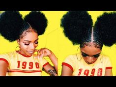 (1) $5 AFRO PUFF & BABY HAIR GOALS⎮STYLE-TORIAL! 90s/70s INSPIRED - YouTube