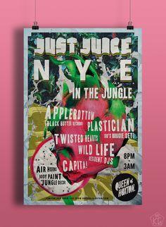 JustJuice 6 NYE   Kier Griffiths   kiergriffiths.com Poster design