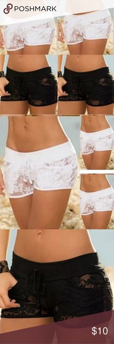 🆕Lace Boy Shorts NWT. Simply sexy, some stretch. Choice of black or white. Size small. NO TRADES Quinn-Tessential Designs Intimates & Sleepwear Panties