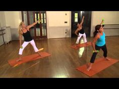 "Sleek Sculpt Express with Ellen Barrett-She does a blend of Pilates, Yoga and Ballet.  Did this workout tonight and is a really good ""no stress"" workout.  You don't kill yourself but feel like you get a good workout!  I will try others on this site as well!"