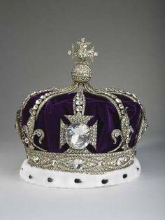 Queen Alexandra's coronation crown (now set with paste stones).