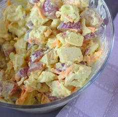 Ham And Egg Salad Recipe- for all of that leftover holiday ham Ham And Eggs, Raw Food Recipes, Soup Recipes, Salad Recipes, Egg Salad, Food Salad, Recipe Details, Vegetable Salad, Soup And Salad