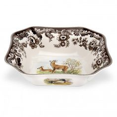 Spode Woodland Square Serving Bowl (Deer)