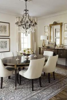 Suzanne Kasler Choate Table and Hunt Chairs help make this a beautiful room!
