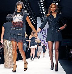 Naomi Campbell and her Mom