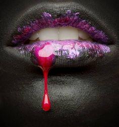 Photograph Gabor Kanovits Black Lipstick on One Eyeland