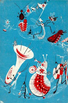 Illustrations by Heinrich Strub for Sumse Sumsebrumm (Switzerland, 1946)