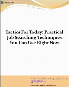 A PDF that outlines practical #jobsearching techniques that you can put into use today to help in your #jobhunt.