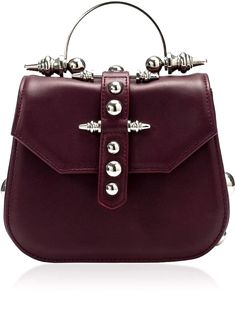 e9f0be5af713 Okhtein Mini Studded Top Handle  leather  purse