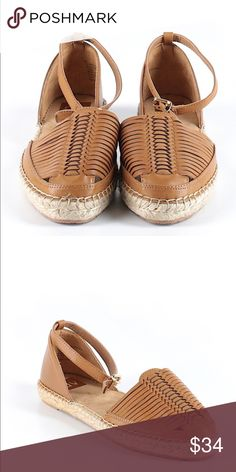 SALE! DV by Dolce Vita sz8.5 leather woven sandal DV by Dolce Vita sz 8.5 brown leather and woven sandal.  Perfect for summer!  Lots of unique details.  Would pair well with shorts or with a cute summer dress.  Comes from pet free and smoke free home. DV by Dolce Vita Shoes Flats & Loafers