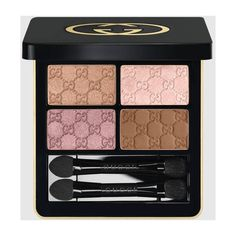 Gucci Rose Quartz, Magnetic Color Shadow Quad ($65) ❤ liked on Polyvore featuring beauty products, makeup, eye makeup, eyeshadow, liquid eye liner, shadow brush, eye shadow brush, liquid eyeliner and gucci