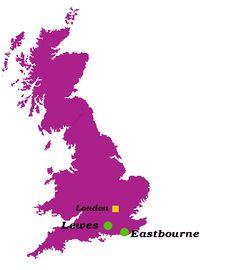 11 Ideas De Eastbourne Lewes Curso De Inglés Cursillo Mapa De Inglaterra