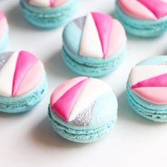 cotton candy macarons {{ nutmeg & honeybee }}