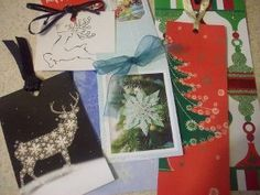 Christmas Card Bookmarks, great way to re-purpose