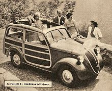 Fiat 500 B GIARDINIERA BELVEDERE DEL1948