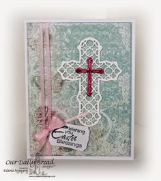 Stamps - Our Daily Bread Designs Earth's Gladdest Day, Christ the Lord Background, ODBD Custom Flourished Star Pattern Die, ODBD Custom Ornamental Crosses Die, ODBD Custom Mini Tags Dies, ODBD Shabby Rose Paper Collection