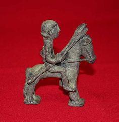Jinete con lanzas pequeño. Exvoto Ibérico (13 x 8 x 27 cm)