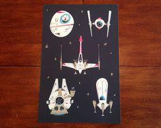 Brilliant Star Wars spacecraft art from Rogie King via Dribble. https://dribbble.com/rogie