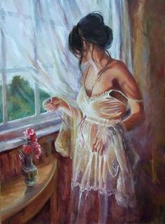 D.W.C. Soft Woman Portrait - Painter Karen Wallis   DANCES WITH COLORS