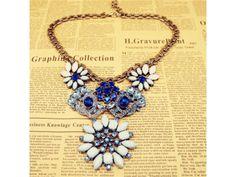 #Bling Bling Blue Resin #Necklace