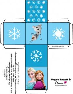 Free Printable Favor Box 3 ♥ Frozen
