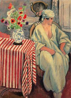 Méditation - Après le bain, 1920  Henri Matisse  Large image: HERE  Detail