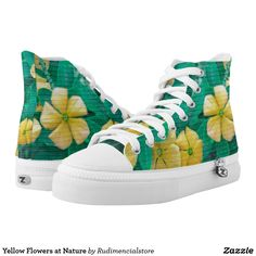 Yellow Flowers at Nature High-Top Sneakers Yellow Flowers, Converse Chuck Taylor, Athletic Shoes, High Top Sneakers, Pairs, Nature, Stuff To Buy, Women, Products