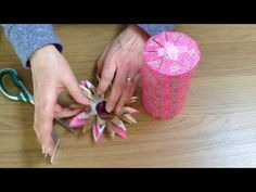 There are lots of clips showing how to gift-wrap a cylinder - but this one's different. It shows how to wrap-up a TAPERING, or slightly conical cylinder - an. Present Wrapping, Wrapping Ideas, Paper Gift Box, Gift Boxes, Bow Garland, Japanese Packaging, Gift Wraping, Cylinder Shape, Flower Decorations