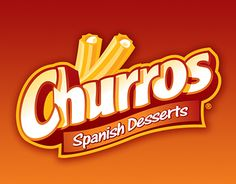 Churros Logo by ~fadyosman on deviantART - Graphic Design Food Logo Design, Food Packaging Design, Graphic Design Services, Text Design, Packaging Design Inspiration, Logo Design Inspiration, Custom Logo Design, Fruit Packaging, Food Brand Logos