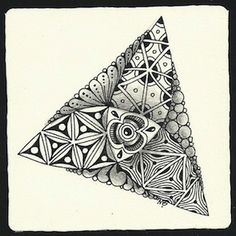 Celtic Knots zentangle | Tangles: Flux, Providence, Purslane (a Flux variation),
