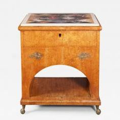 A Fine Neoclassical Karelian Birch Cabinet Russian ca 1810 - 139994