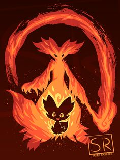 "Pokémon Generation 6 Fire Starters The Fire Mage Within artwork by artist ""Sarah Richford. Kalos Pokemon, Fire Pokemon, Pokemon Gif, Pokemon Images, Pokemon Fan Art, Cool Pokemon, Pokemon Pictures, Pokemon Super, Pokemon Starters"