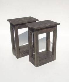 Handmade Black Wooden Bedside Tables. Reclaimed Pallet Wood. Rustic & Shabby Chic Table For The Home, Living Room Or Bedroom on Etsy, £99.00