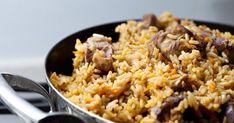 riz pilaf au poulet, riz pilaf, riz au poulet, riz long; plat