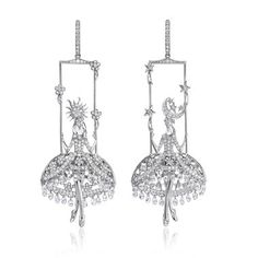 Sybarite diamond briolette earrings