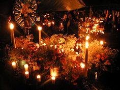 Day of the Dead and Night of the Dead, Dia de Muertos y  Noche de Muertos in Morelia cemetery