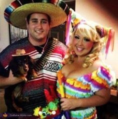 Pinata and a Mexican DIY Couple Costume
