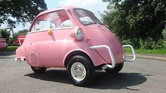 ISETTA bmw FULLY RESTORED mirco car 3 WHEELER tricyle PROMOTIONAL VEHICLE PINK   eBay