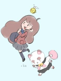 Natasha Allegri's Bee & Puppycat, by Ko Takeuchi (art director of Rhythm Tengoku and WarioWare series)