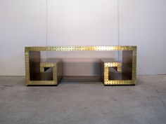 Greek Key Coffee Table In Brass By Contentshome On Etsy