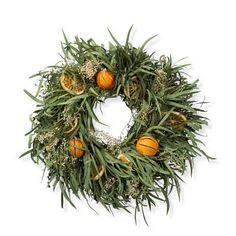 Lemon Citrus Wreath #williamssonoma