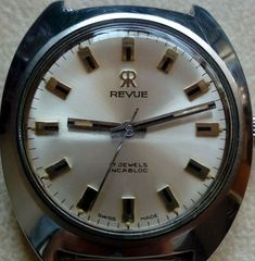 REVUE  S8323A oversize 38mm. with box Revue. Just 215 EUR