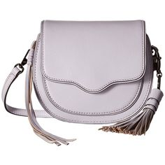 Rebecca Minkoff Mini Suki Crossbody (Pale Lilac) Cross Body Handbags ($180) ❤ liked on Polyvore featuring bags, handbags, shoulder bags, leather crossbody purse, leather handbags, handbags shoulder bags, leather purse and hand bags
