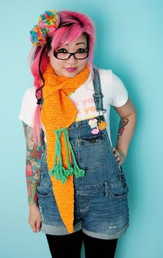 Giant Carrot Scarf - Scarves - Crochet Goodies - Shop - Yummy You Clothing