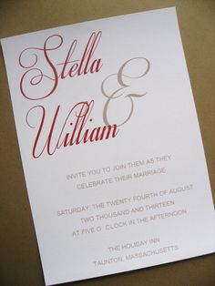 Custom Modern Script Gate Wedding Invitation with by stampingblock, $2.75